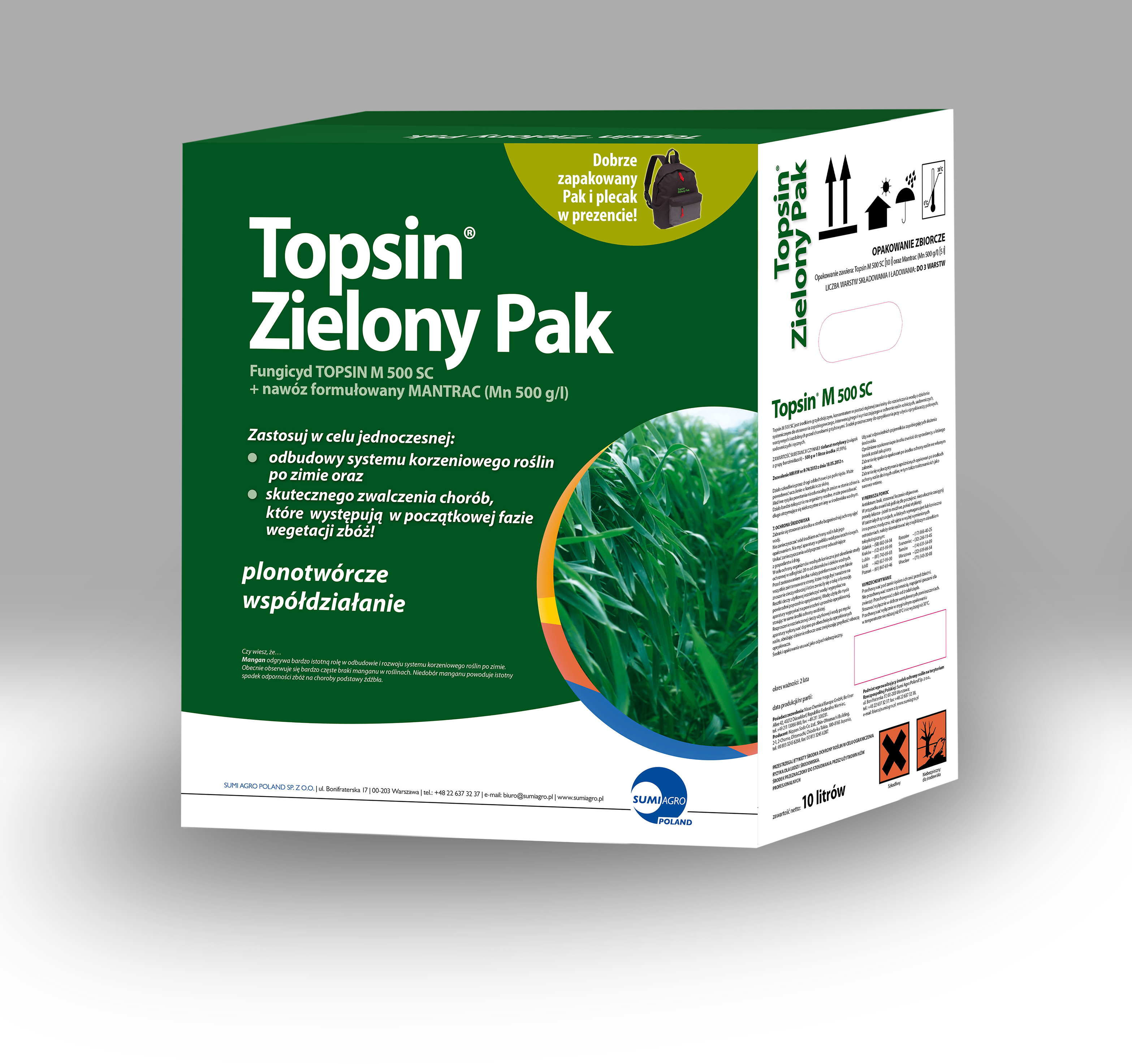 Promocyjne opakowania Topsin Zielony Pak