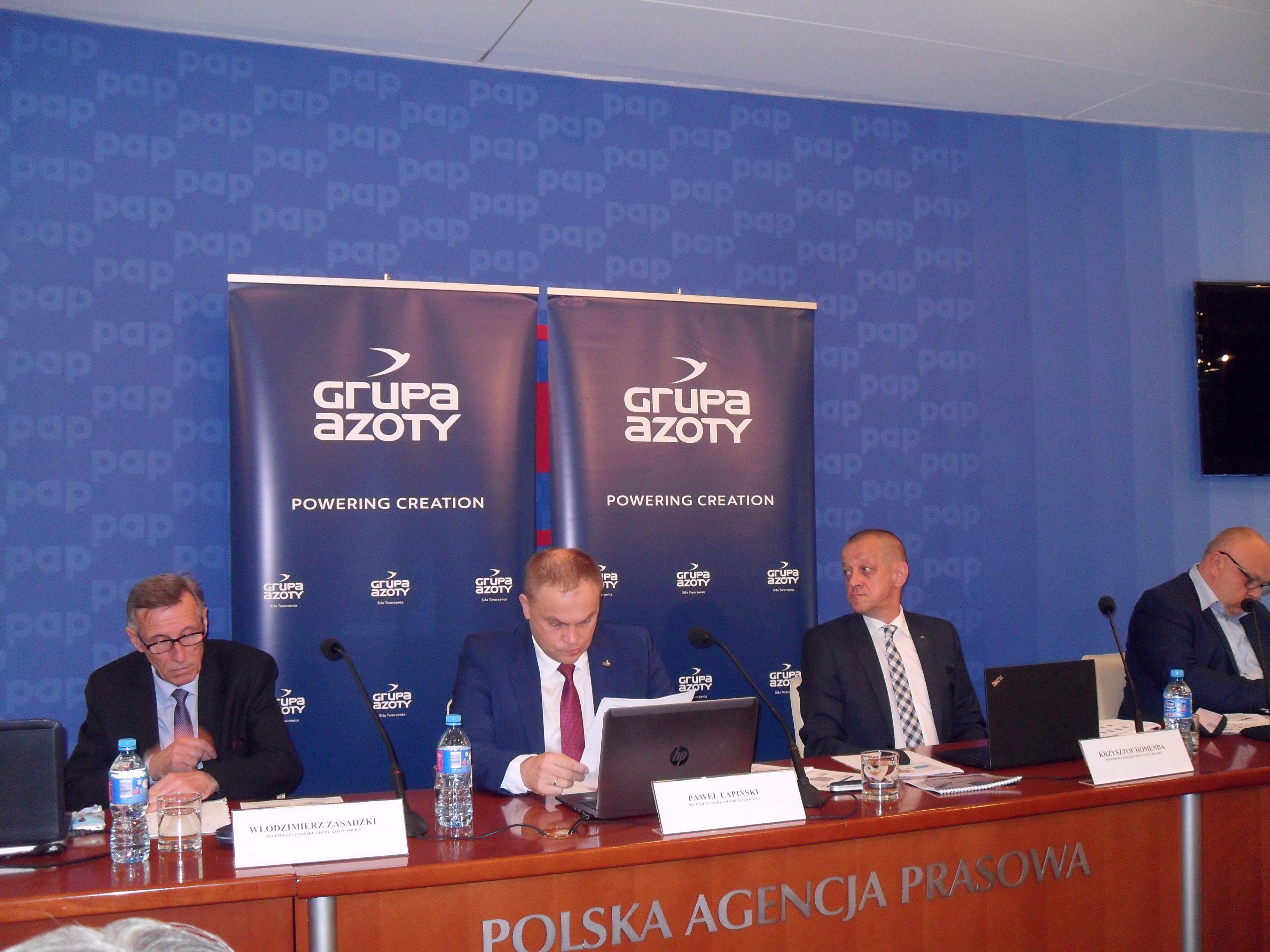 Konferencja prasowa Grupy Azoty