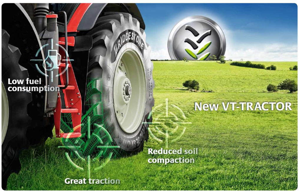 Opony Bridgestone VT-TRACTOR klasy premium  dla bardziej wydajnego i zrównoważonego rolnictwa