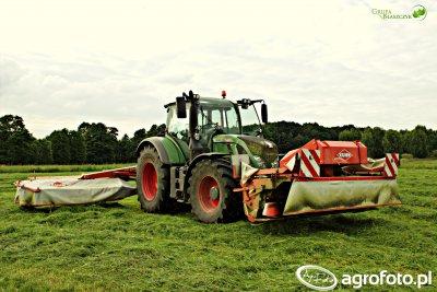 Ciągnik rolniczy Fendt 720 Vario + Kuhn FC 283 GII & Kuhn FC 313 F/RF