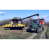 John Deere 7820 i New Holland CX 8070, wysyp kukurydzy
