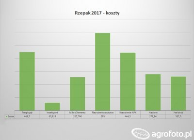 Rzepak 2017 - zestawienie kosztów