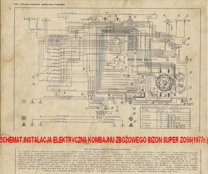Schemat,instalacja elek.kom.zboż,Bizon Super ZO56.jpg