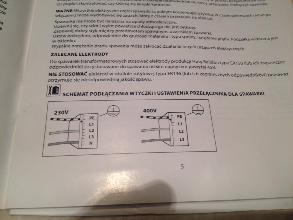 Podłączenie Spawarki Transformatorowej 230 400v